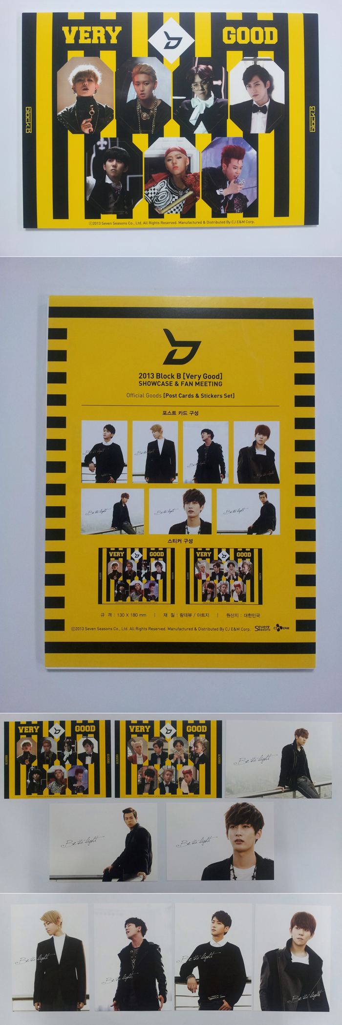 [BLOCK B] Official Show Case Goods (Post Card Sticker Set)